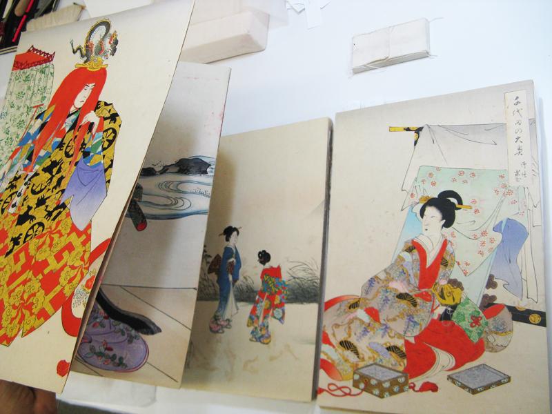 Photo du livre japonais Livre japonais en accordéon, papier japonais, sérigraphie et soie, XXème siècle, Israël Museum, Jérusalem