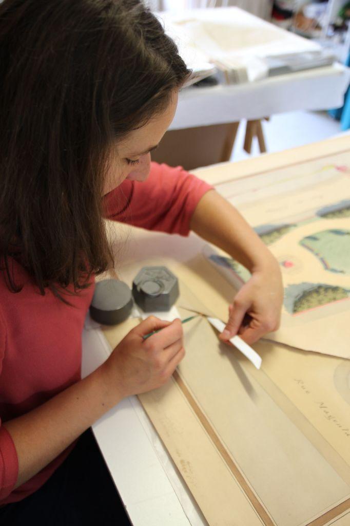 L'atelier HVO Conservation aux Archives municipales de Poitiers